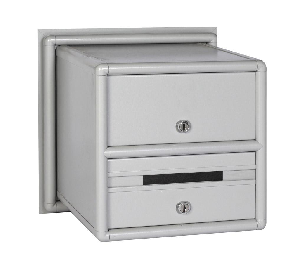 תיבת דואר  דו צדדית לשער מבט מאחור