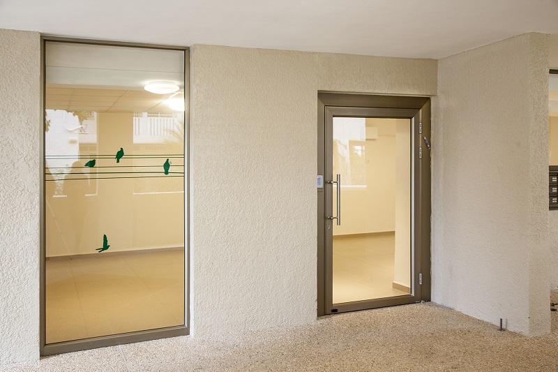 דלת אלומיניום וויטרינה