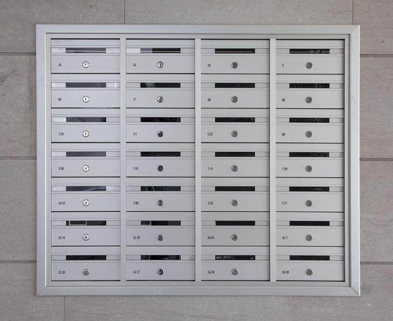 מערכת תיבות דואר בתוך הקיר