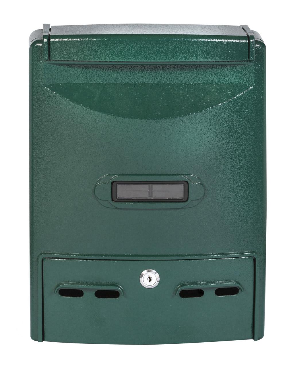 תיבת דואר  חד צדדית, חיצוני על הקיר צבע ירוק