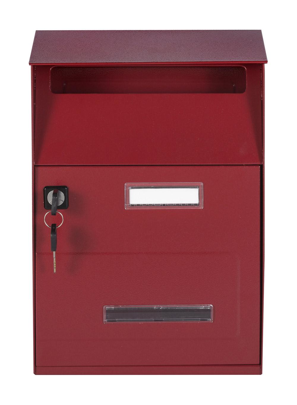 תיבת דואר חד צדדית על הקיר