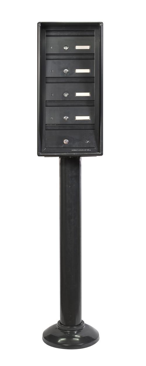 מערכת תיבות דואר הכוללת 4 תאים על עמוד