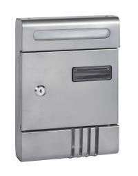 תיבת דואר חד צדדית קטנה חיצונית על הקיר