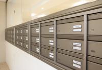 מערכת תיבות דואר דו צדדית בתוך ויטרינה